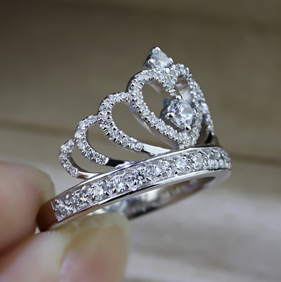 Corona Anello In Argento