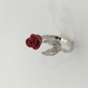 Anello in argento 925,smalto e zirconi